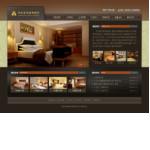 商务宾馆酒店网站 -